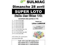 Super Loto animé par Liline LAMOUR le 28 avril 2019 à Sulniac