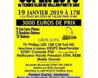 Super Loto du Tennis Club de Vallon Pont d'Arc