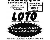 LOTO DE L'ASSOCIATION DU PATRIMOINE DE VENERQUE