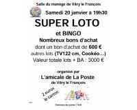 Loto Bingo de l'amicale de La Poste de Vitry le François