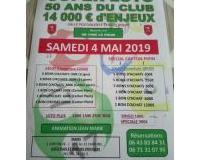 Super loto 50 ans du club 14000€ d'enjeux sur 2 lotos